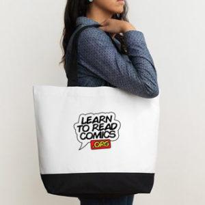 cotton-w-black bag
